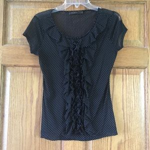 The Limited Sheer Black & White Top Small